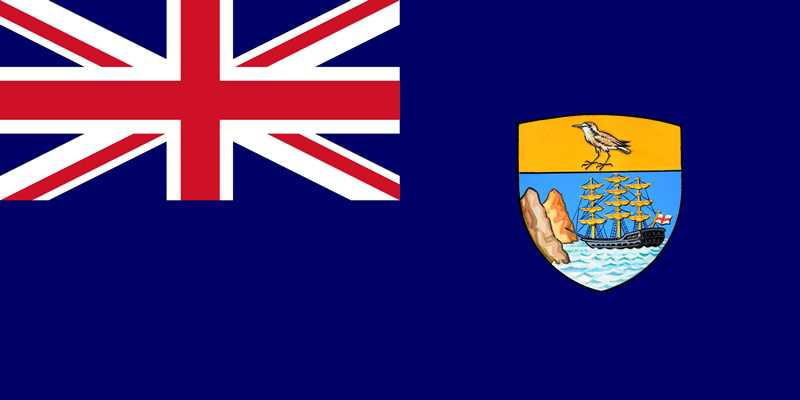 Flag of St Helena [Saint Helena Island Info:Origins of island surnames]